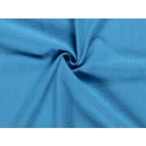 Gewassen linnen - Aqua blauw - 2 meter