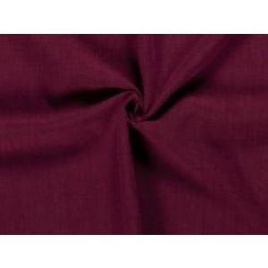 Gewassen linnen - Bordeaux rood - 5 meter