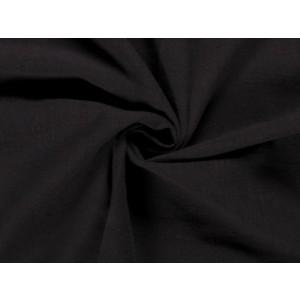 Gewassen linnen - Zwart - 2 meter