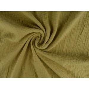 Mousseline stof beige - Katoenen stof op rol