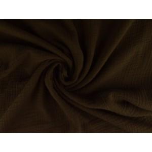 Mousseline stof bruin - Katoenen stof op rol