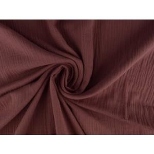 Mousseline stof donker oud roze - Katoenen stof op rol