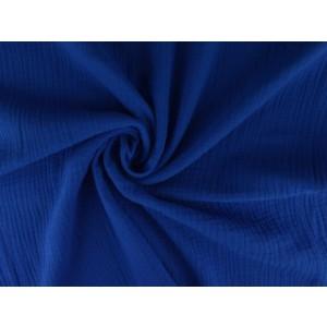 Mousseline stof donkerblauw - Katoenen stof op rol