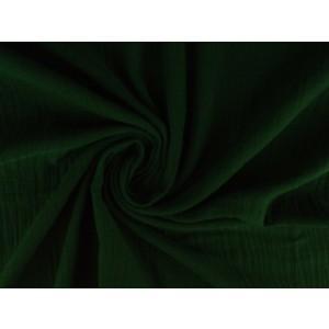 Mousseline stof donkergroen - Katoenen stof op rol