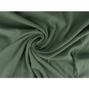 Mousseline stof oud groen - Katoenen stof op rol