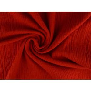 Mousseline stof rood - Katoenen stof op rol