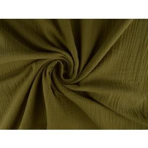 Mousseline stof taupe - Katoenen stof op rol