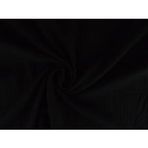 Mousseline stof zwart - Katoenen stof op rol