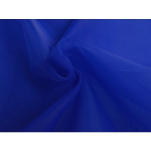 Organza stof - Blauw