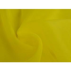 Organza stof - Geel