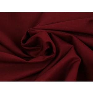 Poplin katoen bordeaux rood - Katoenen stof op rol