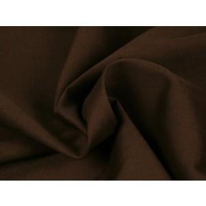 Poplin katoen bruin - Katoenen stof op rol