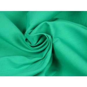 Poplin katoen turquoise - Katoenen stof op rol