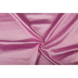 Satijn 50m rol - Roze - 100% polyester