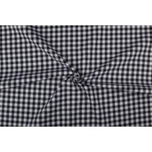 Zwart wit geruit katoen - Boerenbont met 10mm ruit