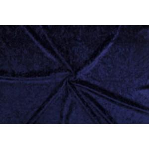 Velour de pannes marineblauw - 45m stof op rol