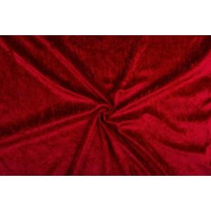 Velour de pannes donkerrood - 45m stof op rol