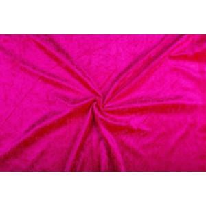 Velour de pannes fuchsia - 45m stof op rol