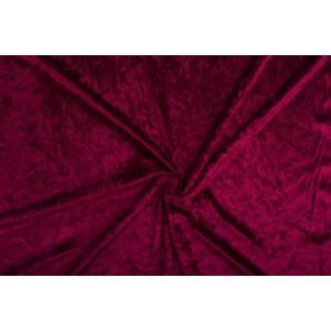 Velour de pannes bordeaux rood - 45m stof op rol