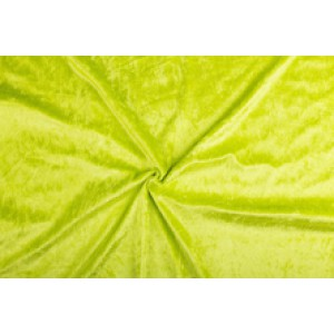 Velour de pannes limoen - 45m stof op rol