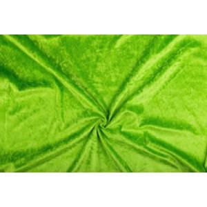 Velour de pannes limoengroen - 45m stof op rol