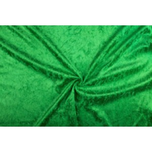Velour de panne groen