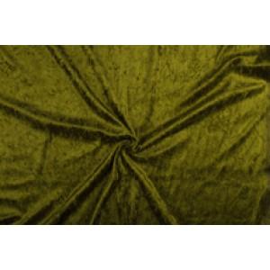 Velour de pannes khaki groen - 45m stof op rol