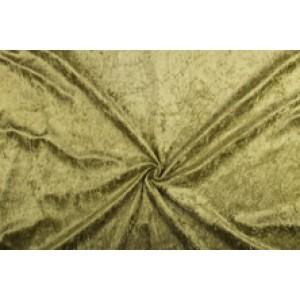 Velour de pannes licht khaki - 45m stof op rol