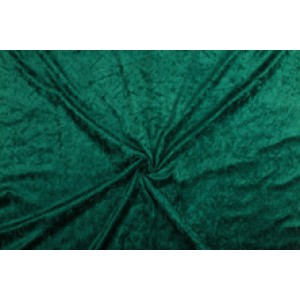 Velour de pannes donkergroen - 45m stof op rol