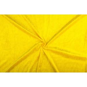 Velour de pannes geel - 45m stof op rol