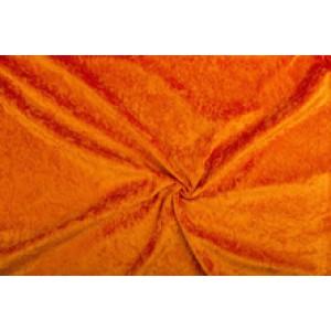 Velour de pannes baksteenoranje - 45m stof op rol