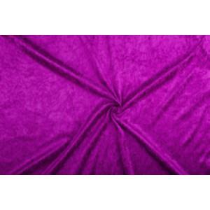 Velour de pannes paars - 45m stof op rol
