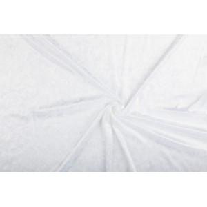 Velour de pannes wit - 45m stof op rol