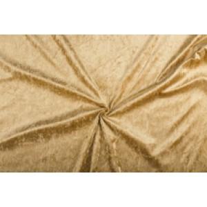 Velour de pannes camel bruin - 45m stof op rol