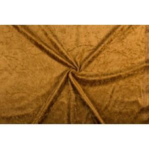 Velour de pannes lichtbruin - 45m stof op rol