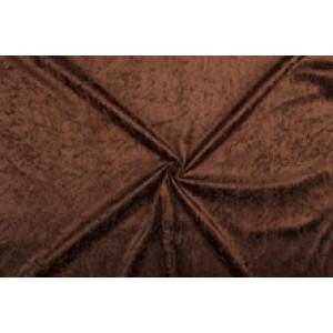 Velour de pannes donkerbruin - 45m stof op rol