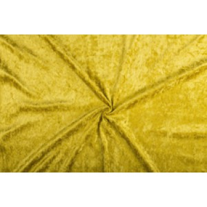 Velour de pannes goud - 45m stof op rol
