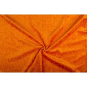 Velour de pannes donkeroranje - 45m stof op rol