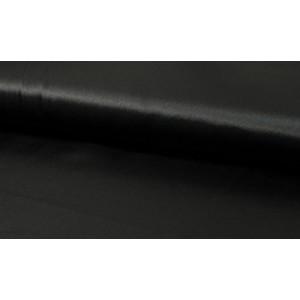 Satijn zwart - 1 meter